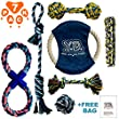Dog Rope Toys for Aggressive Chewers - Indestructible Dog Toy Set of 7 - Durable Dog Chew Toys - Dog Rope Toy Set for Small to Large Breed Dogs and Puppy - Rope Dog Toy for Training Tug-of-War Playing