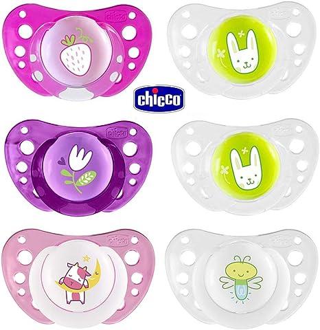 CHICCO Day & Night chupete Silicona 16-36 meses Girls, Juedo de 6 ...
