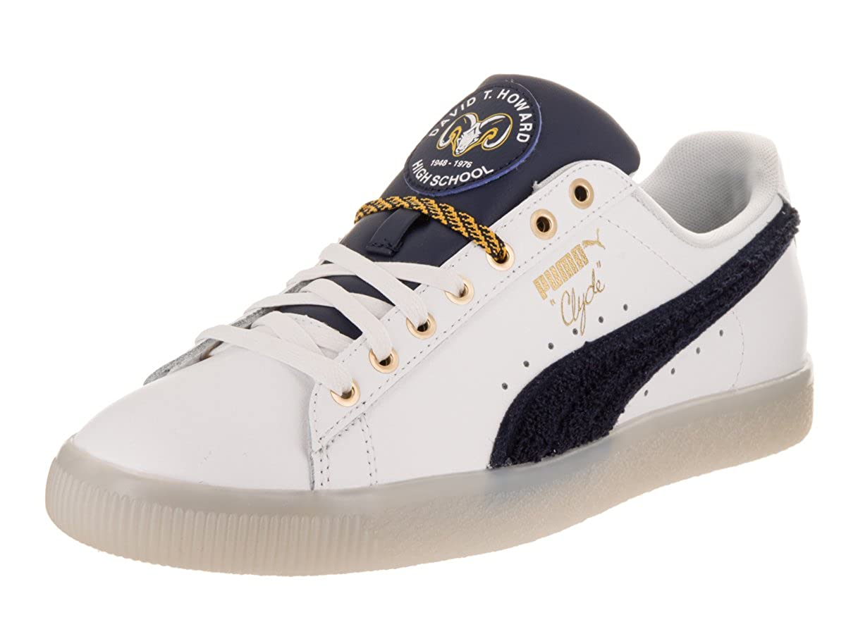chaussures de séparation 016f5 a62d1 PUMA Mens Clyde Leather BHM Casual Sneakers,