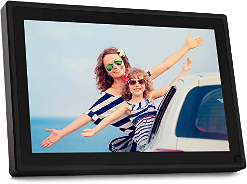 BSIMB Digital Picture Frame 10.1 Inch WiFi Digital Photo Frame 1280×800 IPS Touch Screen/Motion Sensor/16 GB/Send Photos/Video Support iOS/Android App,Email/Facebook/Twitter W09 Plu