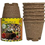 jiffy peat tomato - Jiffy Pots 12 Pack 4 Inch Round Seed Starter Planters Biodegradable Peat For Gardening