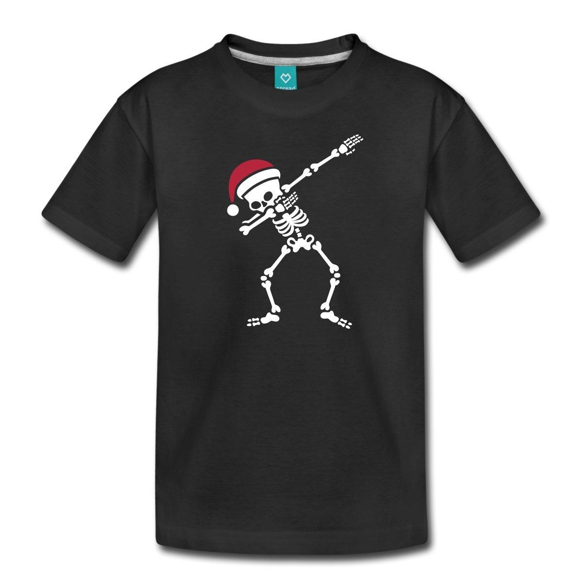 Spreadshirt Funny Dabbing Christmas Skeleton Teenage T-Shirt S205909-A113013288-1