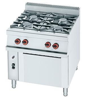 Macfrin R4H Cocina a Gas de 4 Fuegos y Horno 31 Kw