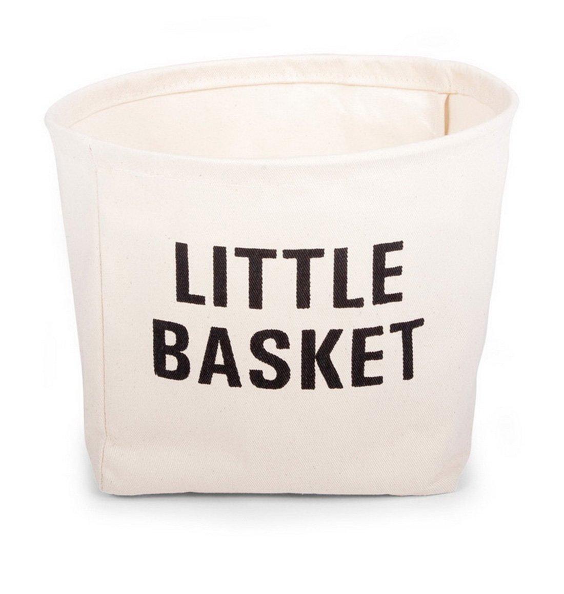 Childhome Aufbewahrungskorb Mit Little Basket Print Aus Baumwolle, 30 x 22,5 cm, Natur 3 horses