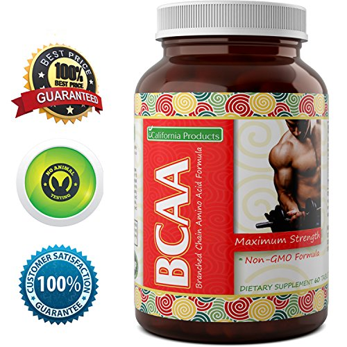 3000 mg Dosage BCAA Pills – Pure Lean Gains – Men + Women – Best Concentrated Muscle Repair – Build Muscles + Recovery – Essential Amino Acids Supplements by California Products