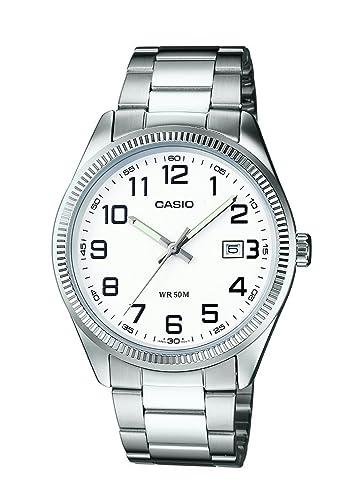 Casio Reloj Analogico para Hombre de Cuarzo con Correa en Acero Inoxidable MTP-1302PD-7BVEF: Amazon.es: Relojes