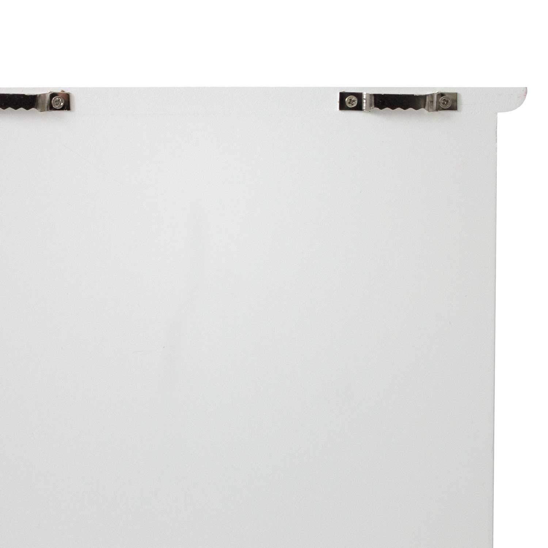 Gabinete para llaves Caja para llaves No hay lugar como el hogar 22x29x8cm con 6 ganchos para llaves madera blanco//marr/ón Tablero para llaves Armario