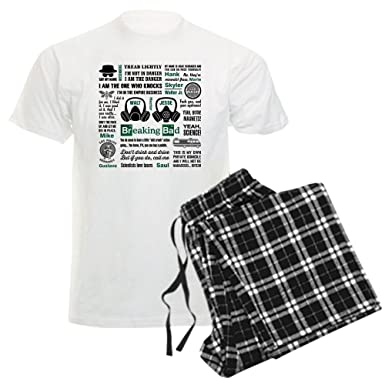 CafePress - Breaking Bad Quotes Pajamas - Unisex Novelty Cotton Pajama Set, Comfortable PJ Sleepwear