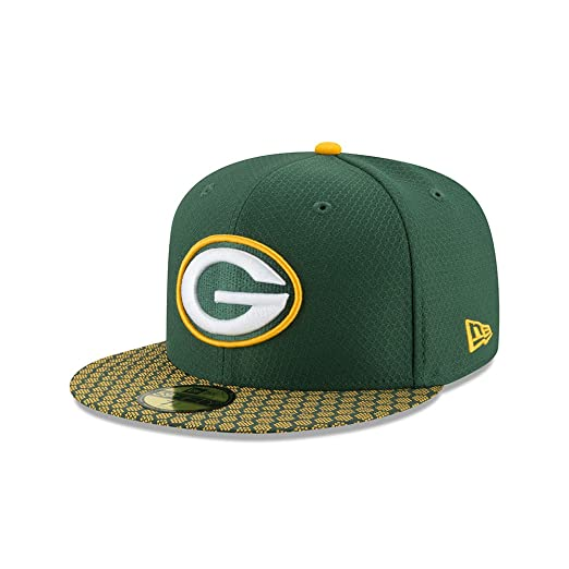 e223d404f95 New Era 59Fifty Hat Green Bay Packers NFL 2017 On Field Sideline Green  Fitted Cap (