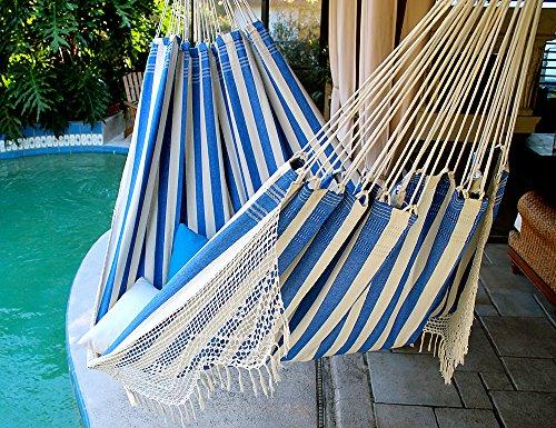 Marine Dock – Fine Cotton King Size Hammock with Croche Fringe, Made in Brazil