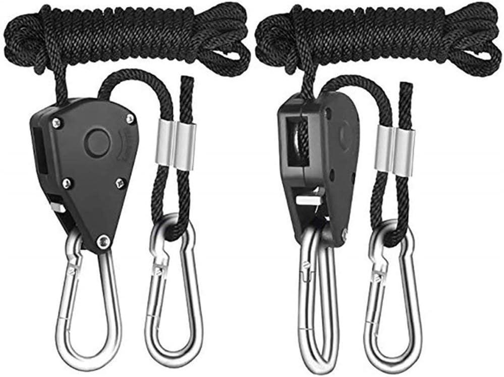 Noir Cordes de Camping en Plein air pour hamac de Charge Haute r/ésistance Nihlsen Sangles de Corde de Suspension r/églables pour la Suspension