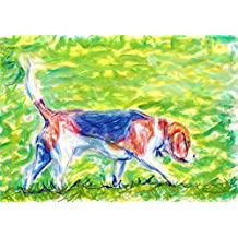 Beagle Hunting Wall Art Print, Colorful Beagle Art, Nursery Dog Art, Beagle Owner Gift, Beagle Dog Art, Dog Wall Art Print, Colorful Beagle Artwork, Canine Decor