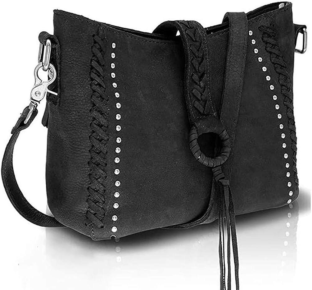 New Montana West Women/'s Cowhide Real Leather Purse Cross Body Shoulder Handbag