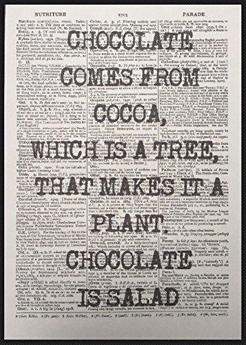 Chocolate quote Parksmoonprints immagine artistica cake Cafe cucina divertente homemade