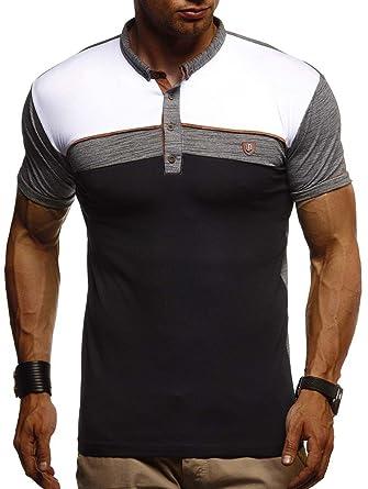 8433044b5f43 LEIF NELSON Herren Sommer Polo Shirt Poloshirt Kurzarmshirt Sportshirt T- Shirt Freizeit Hemd Hoodie Slim Fit LN1420  Amazon.de  Bekleidung