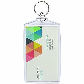 Photo Acrylique Snap In Taille De Carte Visite Porte Cles Paquet DE