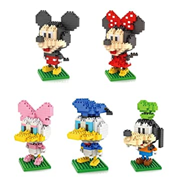 Amazoncom 5box LOZ Diamond Block Mickey Mouse Donald Duck Micky