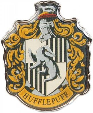 HARRY POTTER HUFFLEPUFF ENAMEL PIN BADGE BUTTON HOUSE CREST SCHOOL HOGWARTS