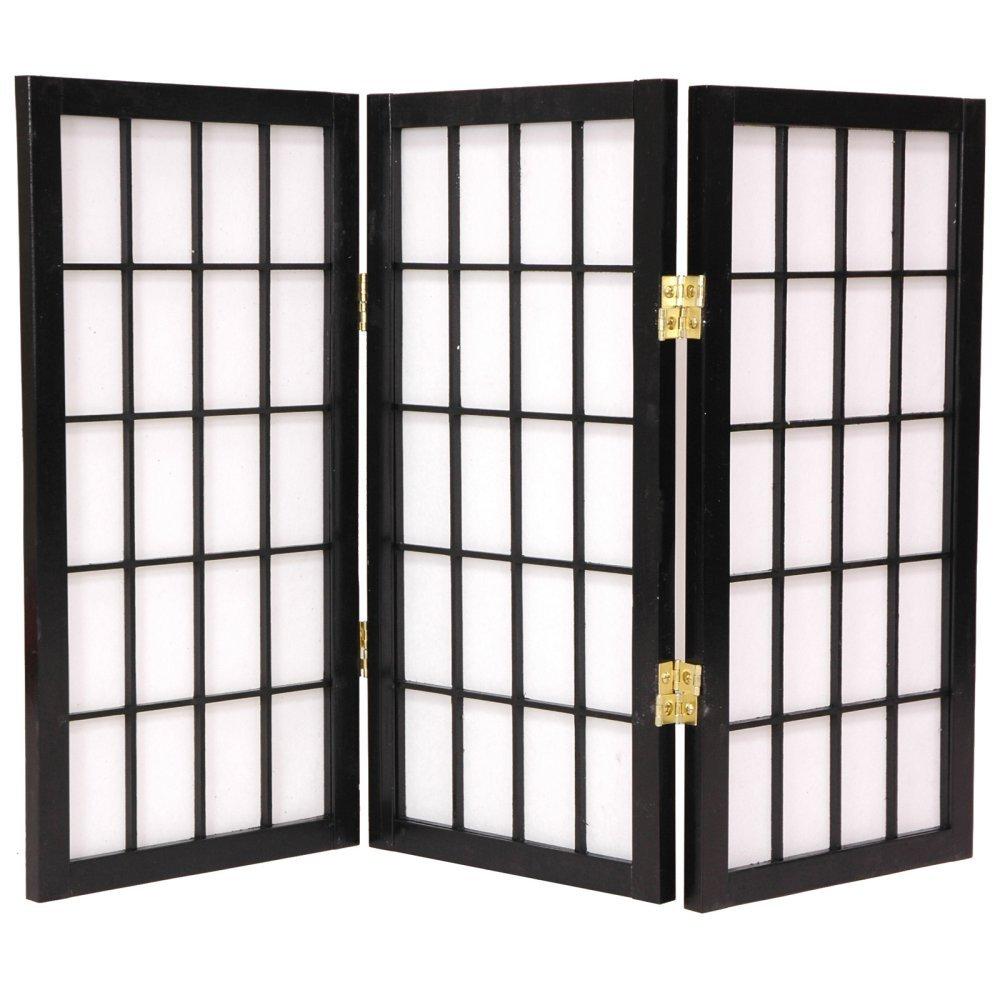 Oriental Furniture Desktop Window Pane 26.5 Inch Shoji Screen