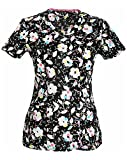 heartsoul Women's Mock Wrap Floral Print Scrub Top XX-Large Print