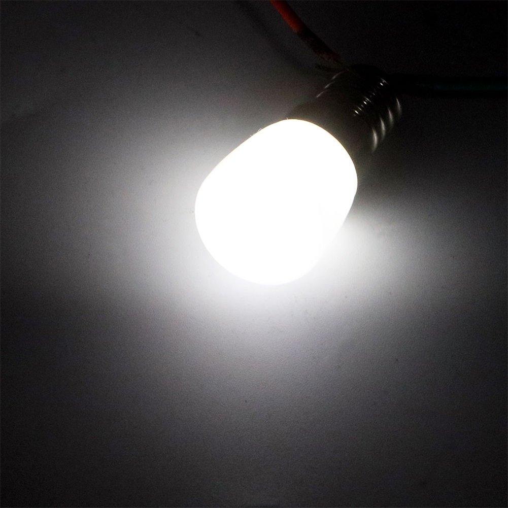 Elegantstunning AC 220/V Mini E14/SMD2835/LED Blub l/ámpara de cristal para frigor/ífico congelador Casa Iluminaci/ón White Light
