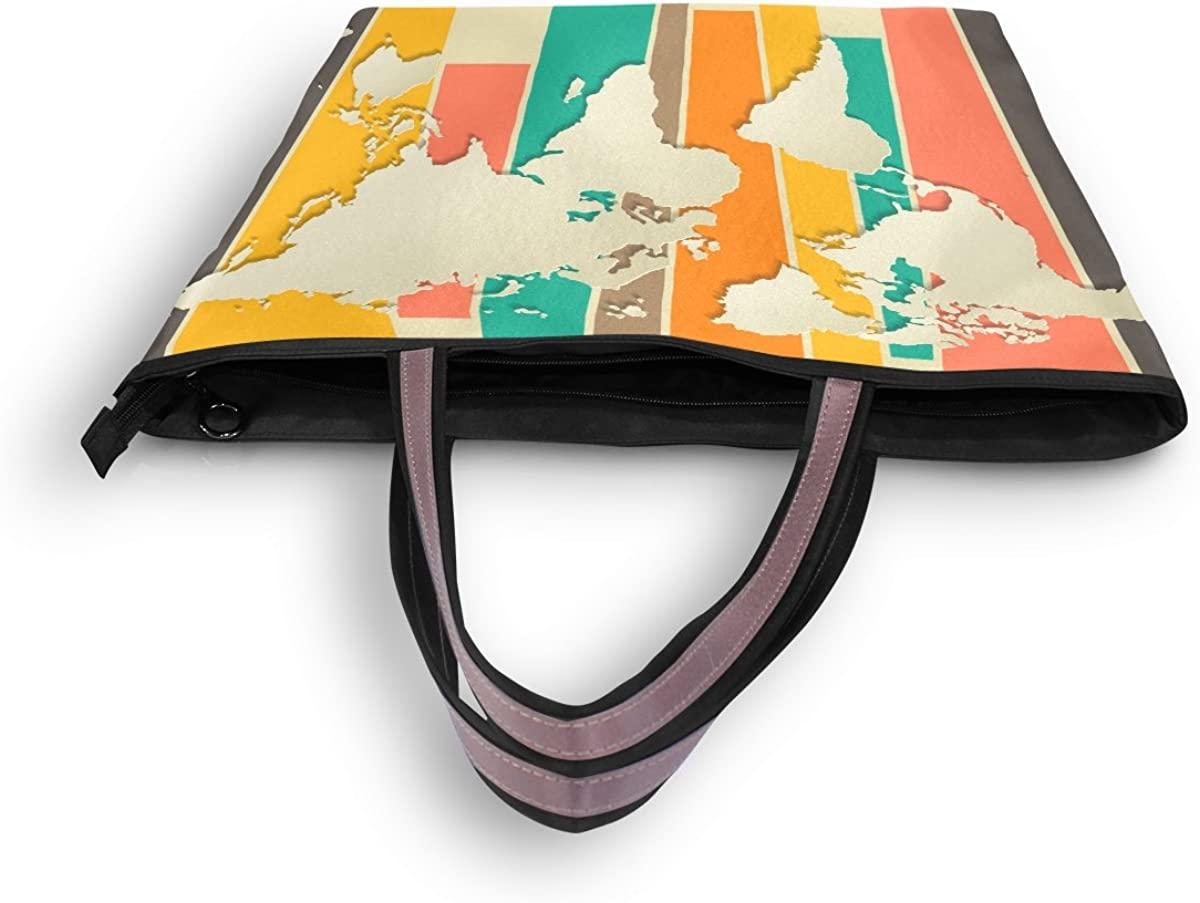 Imobaby World Map Shoulder Tote Bag Handbag Shopping Bags Valentines Day Gift For Her,Multi091