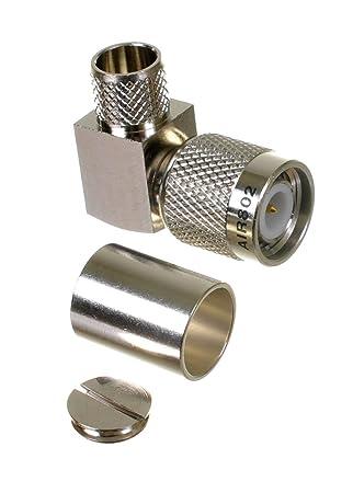 AIR802 TNC Plug Male Right Angle Crimp Coax Connector for RG8, AIR802 CA400, Times