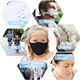 Hicdaw 10 Pcs Cotton Mouth Mask Black Anti Dust