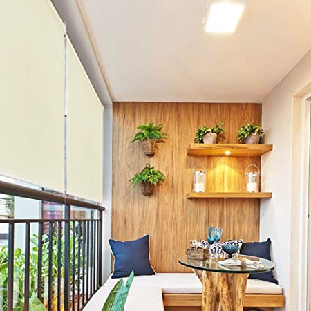 HENGMEI 100x240cm Estor Toldo protección contra el Viento Vertical Persiana Enrollable para balcón, Exterior, Beige: Amazon.es: Hogar