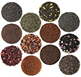 Solstice Tea Traders Loose Leaf Tea Sampler, Ultimate Sampler 12 Types of Loose Leaf Tea, Rooibos, Gunpowder, Chai, and More!