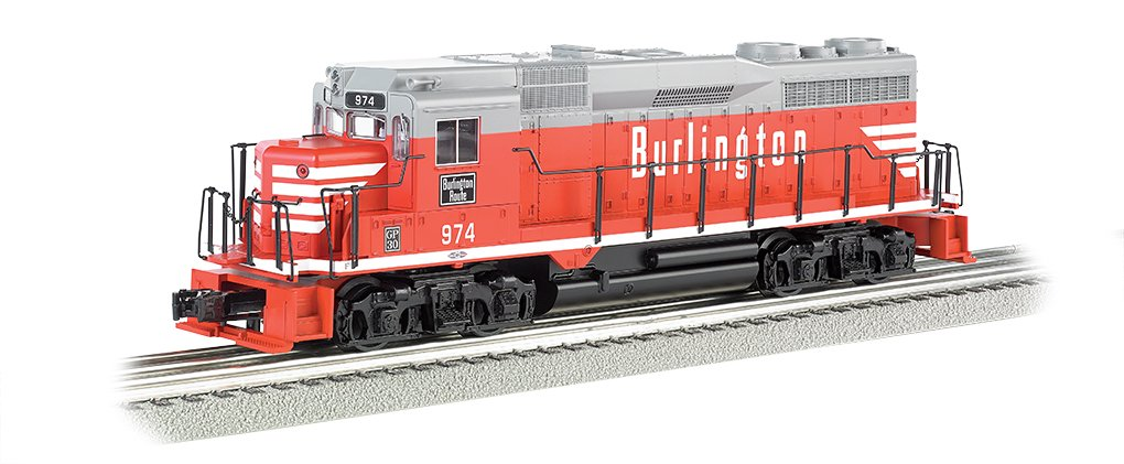 Bachmann Industries General Motors GP 30 Scale Diesel Locomotive Burlington 974 O Scale Train