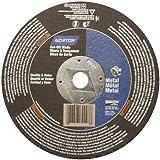 "Norton Metal Circular Saw Reinforced Abrasive Flat Cut-off Wheel, Type 01, Aluminum Oxide, DM-5/8"" Arbor, 6-1/2"" Diameter x 1/8"" Thickness (Pack of 10)"