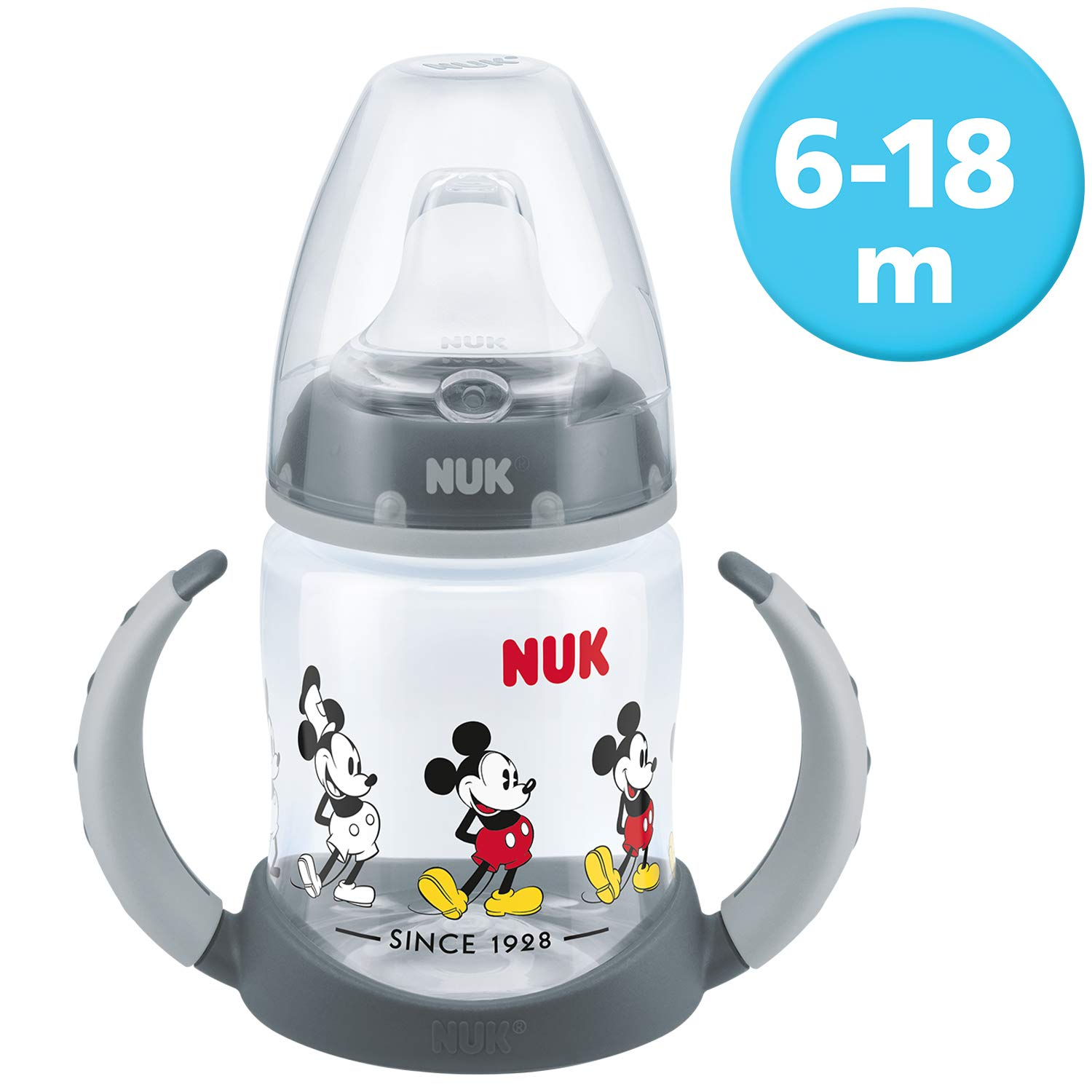 Nuk First Choice Disney Mickey Minnie Baby Feeding Bottle Learner Cup 6-18 Month