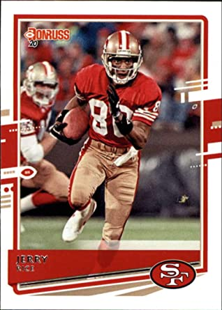 Amazon Com 2020 Donruss Football 18 Jerry Rice San Francisco 49ers Official Nfl Trading Card By Panini America Collectibles Fine Art