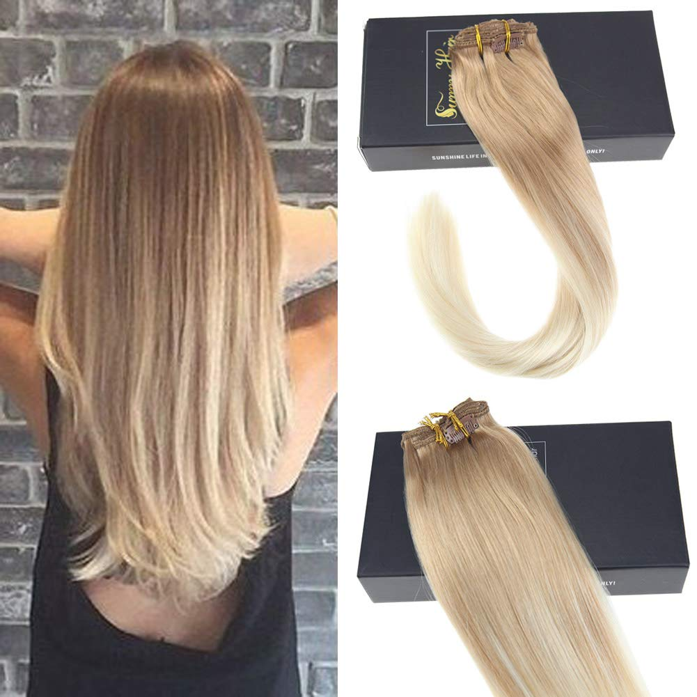 Amazon Sunny 14inch Clip In Hair Extensions Human Hair Color