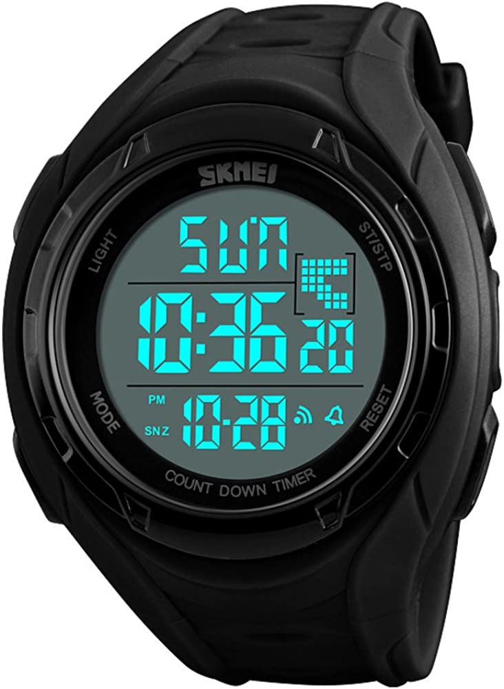 Men S Sport Watch 50m Waterproof Alarm Clock Luminous Calendar Gmt When Two Multifunction Digital Stopwatch Junior Adolescent Electronic Watches C Amazon Co Uk Watches