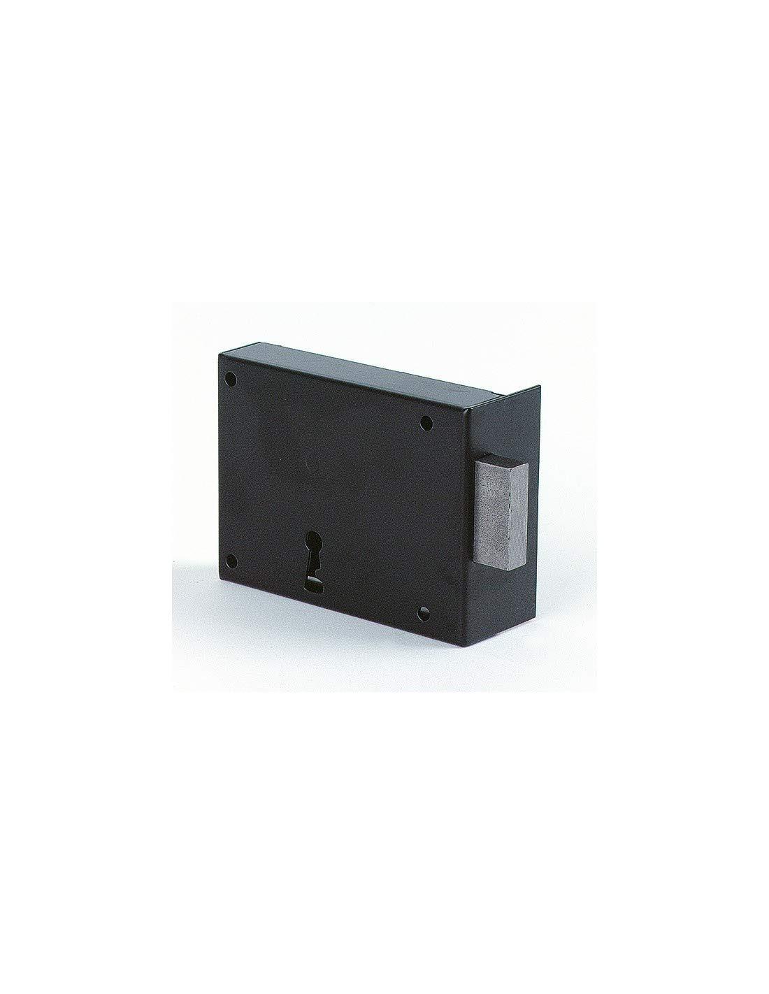 Main.D A.105 B.160 Serrure de securite a poser en applique horizontale noire-pene dormant Jpm R/éf..106
