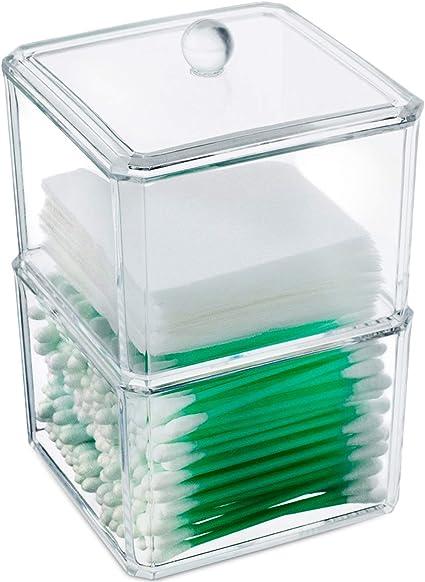Acrílico claro bola de algodón y algodón Case – Organizador de ...