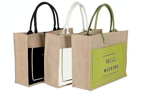 Amazon.com: Venxic - Bolsa de yute para playa con asas y ...