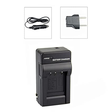 DSTE Travel and Car Charger Adapter for Olympus LI-30B LI-40B LI-42B Nikon EN-EL10 Fuji NP-45 Pentax D-LI63 Kodak KLIC-7006 Battery as MH-63