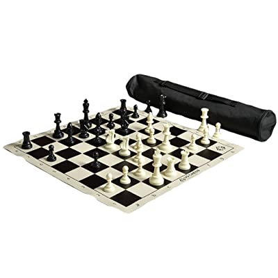 The House of Staunton US Chess Quiver Chess Set Combo - Black: Sports & Outdoors