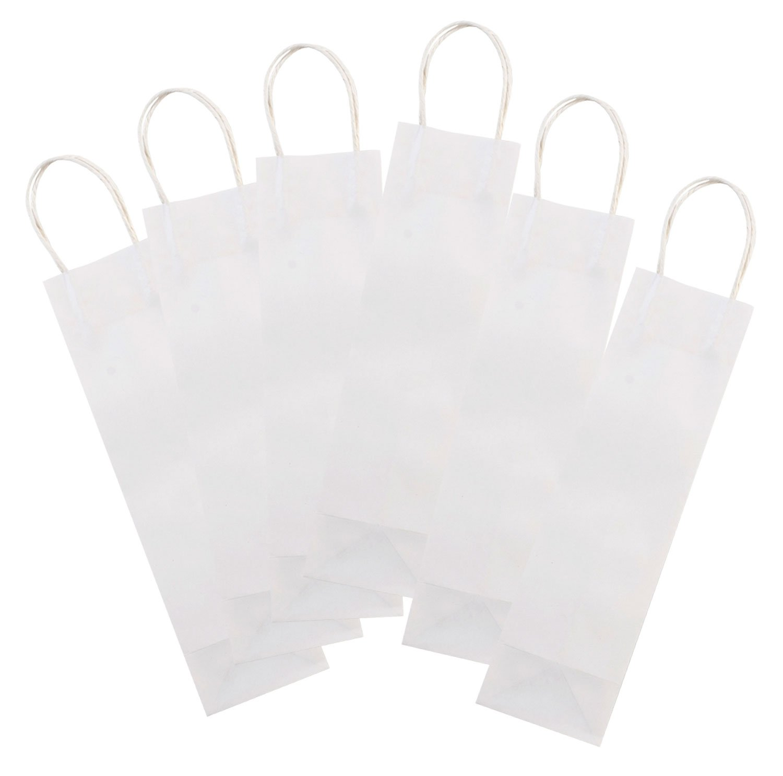 Folia 21600–Bolsas de papel para botellas, 6unidades, 12x 10x 36cm, color blanco Max Bringmann