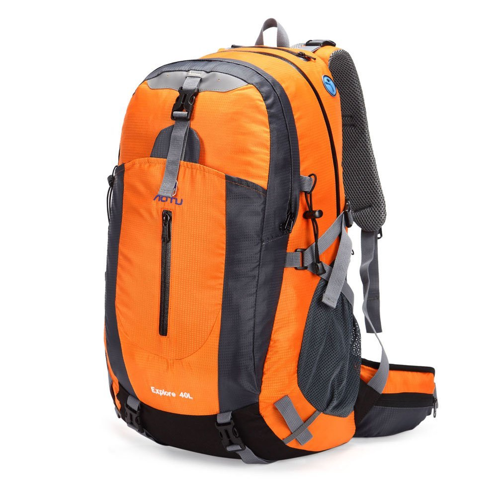 21fa7bf423 Amazon.com   Docooler 40L Waterproof Outdoor Sport Travel Backpack Mountain  Climbing Camping Hiking Knapsack with Rain Cover   Sports   Outdoors