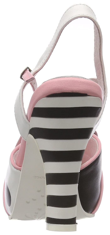 Lola Ramona Damen Angie Peeptoe Pink Pumps Pink Peeptoe (Pink/Cream) deeb51