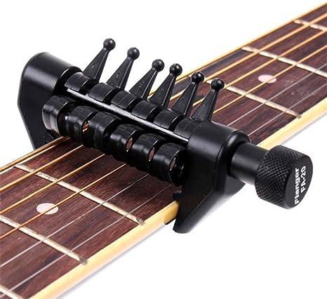 Cejilla Open Tuning para cuerdas de guitarra acústica como una ...