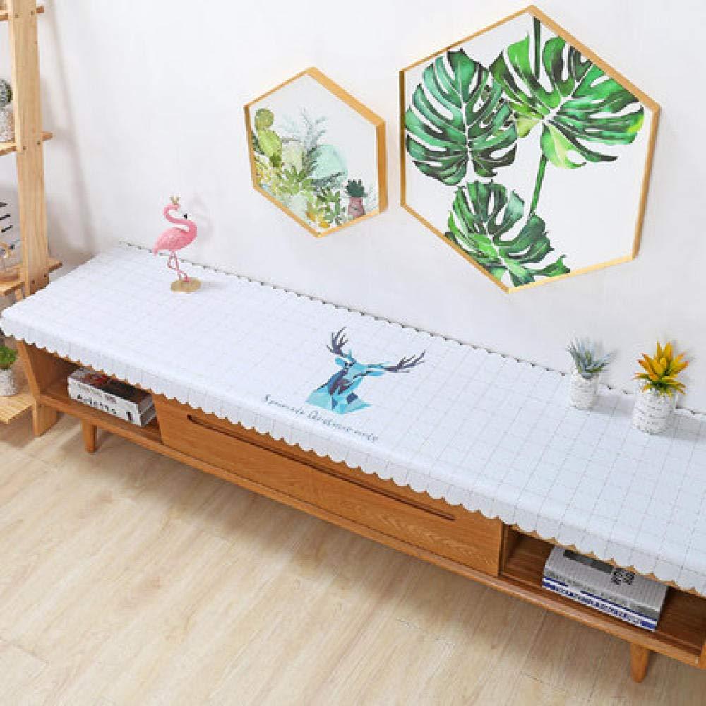 WJJYTX gartentischdecke eckig, Square Table Cover Cloth Tischdecke und Various Sizes-Dirt Repellent Tischdecke TV-Schrankabdeckung Wohnzimmer @ 50 * 200