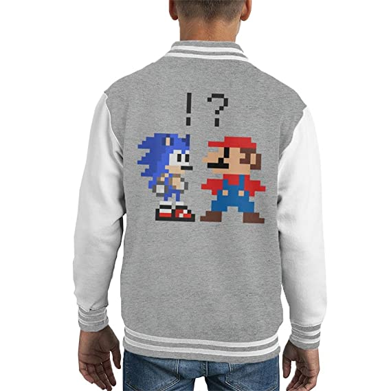 Cloud City 7 Sonic The Hedgehog Vs Super Mario Kids Varsity Jacket