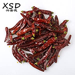 Chinese Whole Dried Red Chilies, XSD Authentic Szechuan Hot Chili Peppers, Making Chili Oil & Sichuan Chongqing Hotpot, Premium Quality Packaged 5 Oz