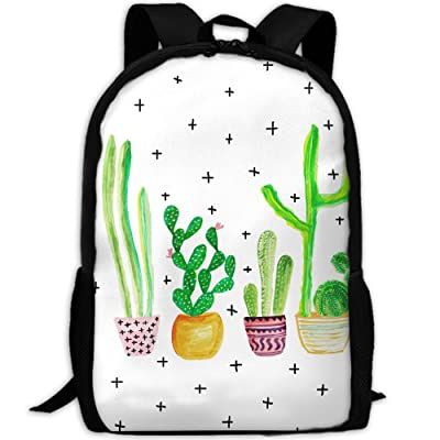 SZYYMM Cactus Plant Oxford Cloth Casual Unique Backpack, Adjustable Shoulder Strap Storage Bag,Travel/Outdoor Sports/Camping/School For Women And Men