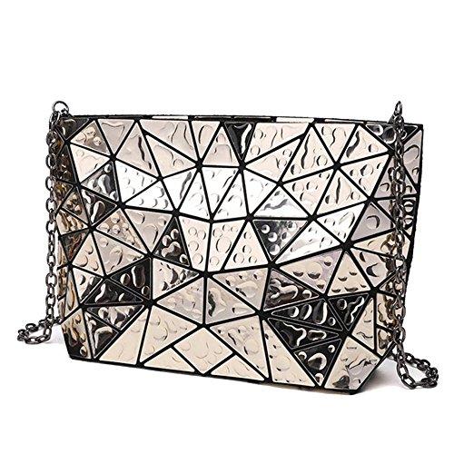 Triángulo De Moda Cae Bolsos Geométricos De Hombro De La PU Summer Metal Messenger Cross Body Bags Para Mujeres Niñas Laides Gold